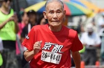 105岁老人创百米纪录
