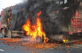 京台高速齐河段车起火