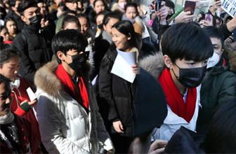 王俊凯北影艺考遭围堵