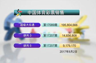 中国体彩开奖20170802